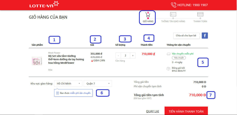 Hướng dẫn mua hàng lotte.vn
