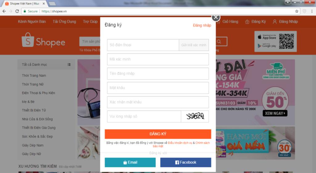 Hướng dẫn cách đăng ký bán hàng trên Shopee chi tiết cho người mới bắt đầu đăng ký điền đầy đủ thông tin