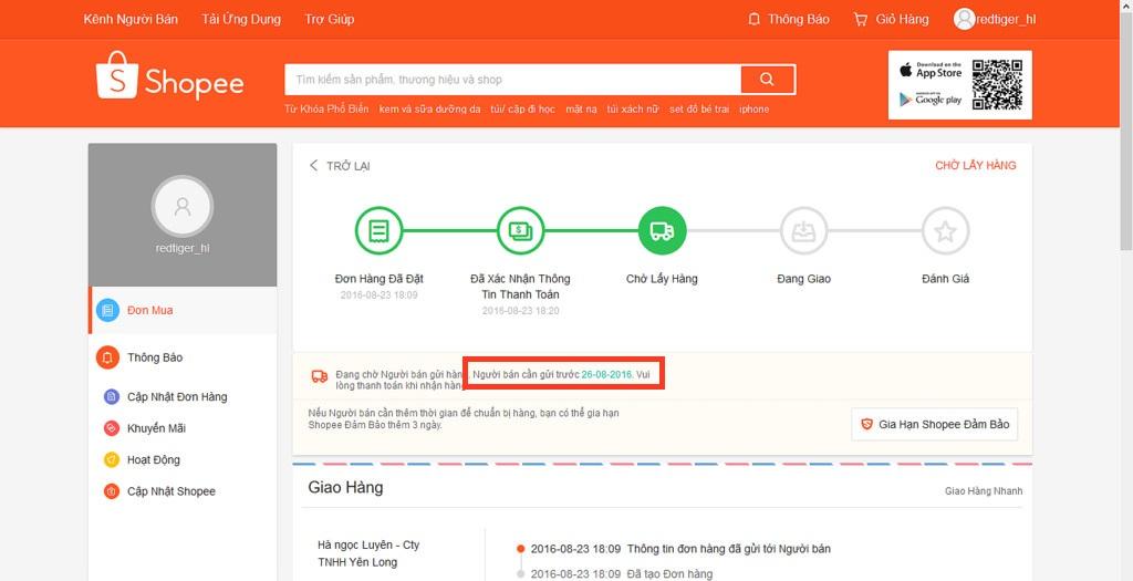 Hướng dẫn đổi trả hàng Shopee kiểm tra ngày giao hàng Shopee