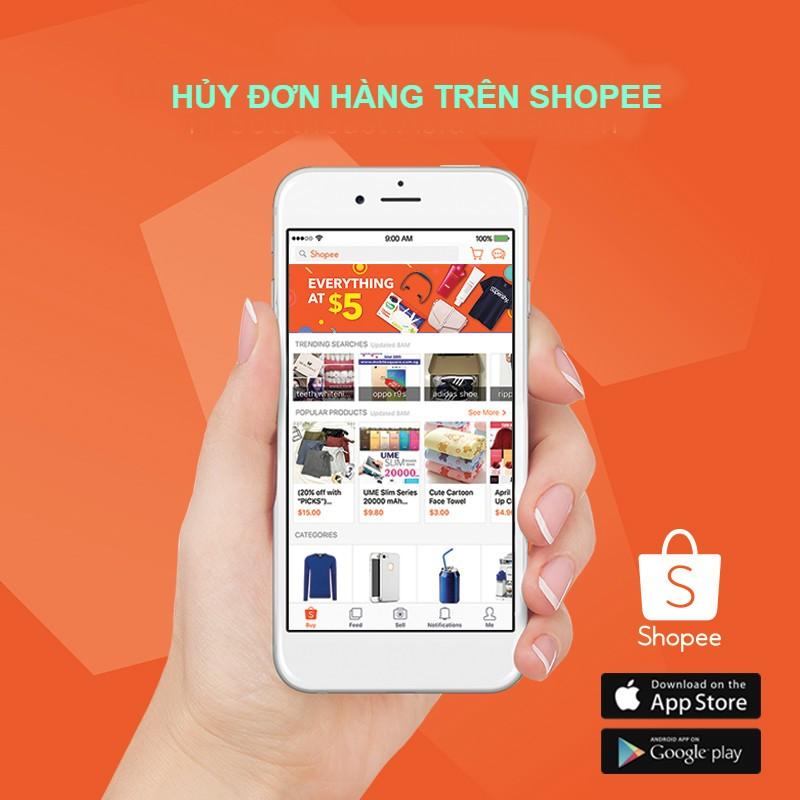 Hướng dẫn hủy đơn hàng trên App Shopee cách hủy đơn hàng trên Shopee đơn giản