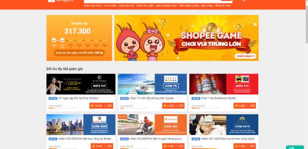 Ngoài ra Shopee Xu còn dùng để đổi lấy voucher giảm giá