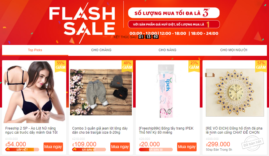 Flash Sale diễn ra mỗi ngày không còn gì lạ đối với Shopee, nhưng số lượng lại có hạn