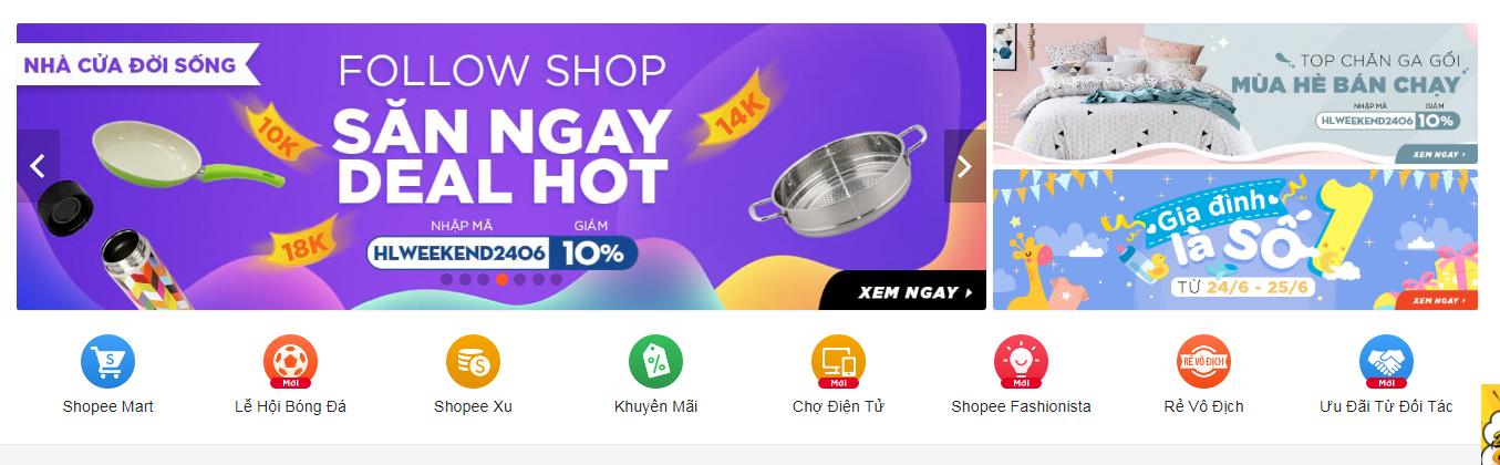 Mua hàng Shopee mã giảm giá hàng ngày