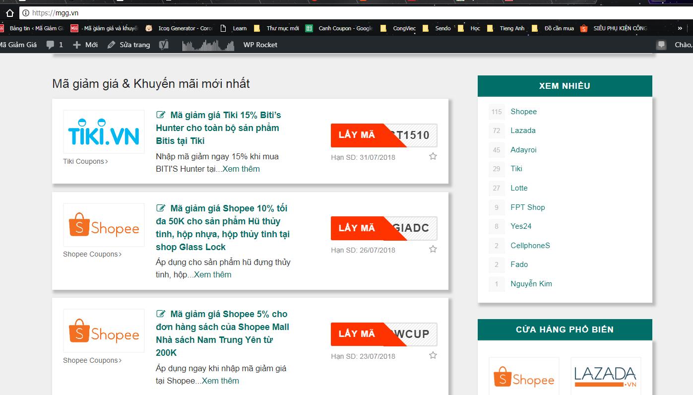 Hướng dẫn mua hàng trên Shopee, hướng dẫn tìm kiếm mã giảm giá trên http://mgg.vn