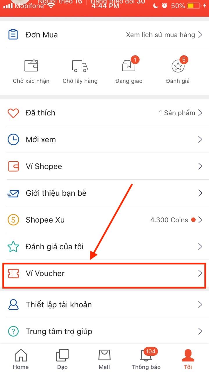 Hướng dẫn nhập mã giảm giá Shopee vào ví voucher trên Shopee App - Nhập mã giảm giá Shopee trên điện thoại