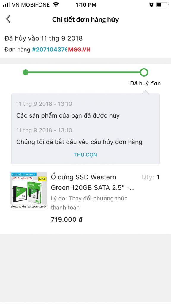 Hướng dẫn mua sắm trên Lazada App chi tiết đơn hàng Lazada đã hủy