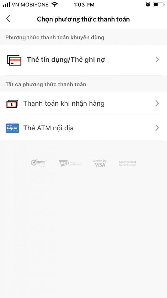Hướng dẫn mua sắm trên Lazada App hướng dẫn chọn phương thức thanh toán