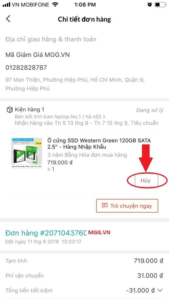Hướng dẫn mua sắm trên Lazada App xem chi tiết đơn hàng và hủy đơn