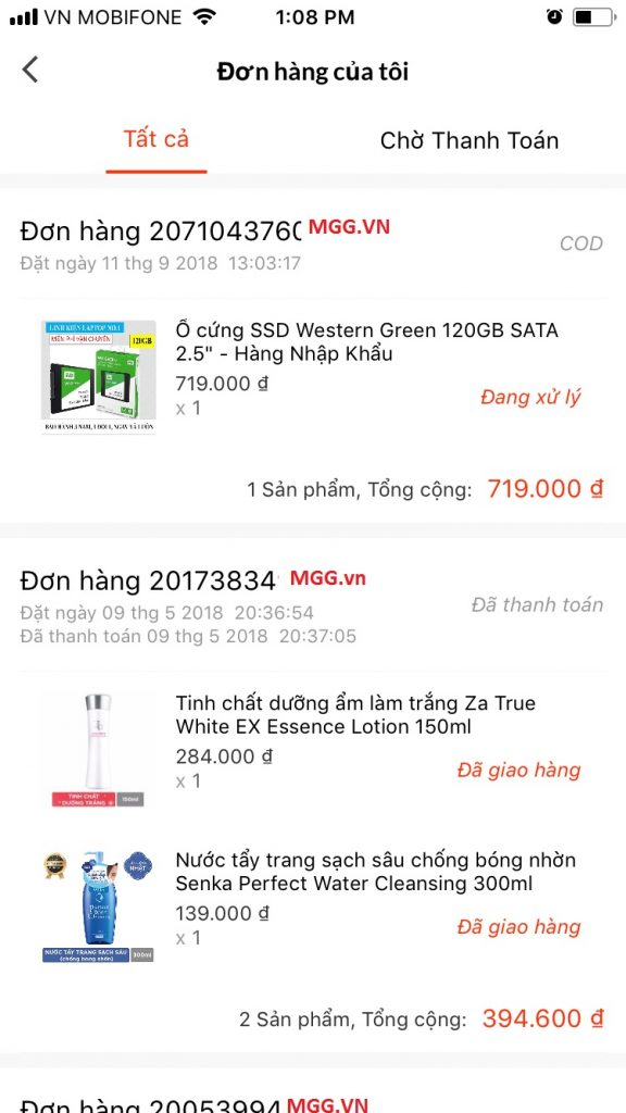 Hướng dẫn mua sắm trên Lazada App theo dõi đơn hàng
