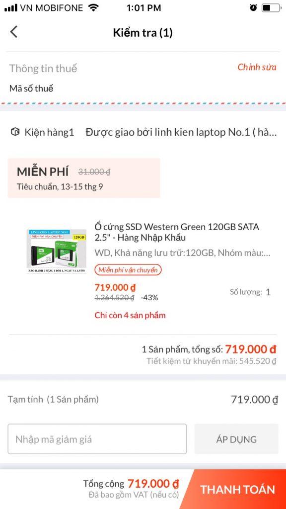 Hướng dẫn mua sắm trên Lazada App hướng dẫn nhập mã giảm giá
