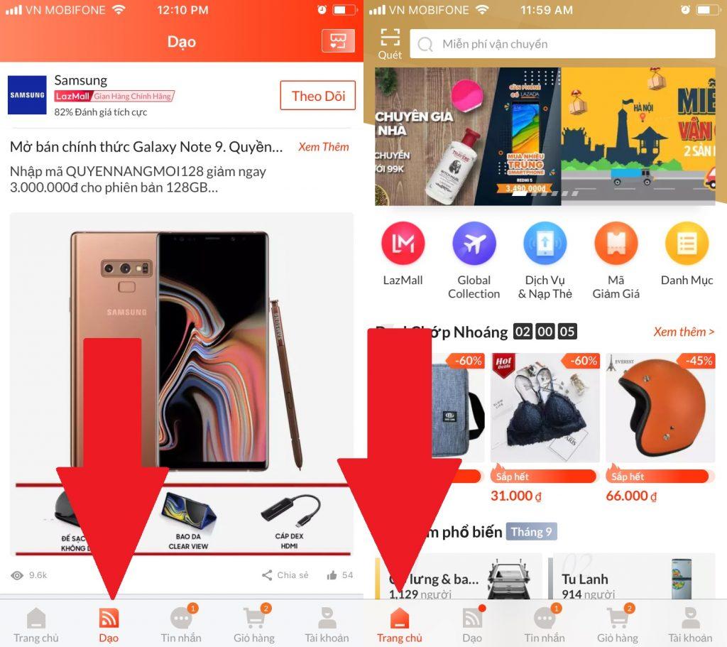 Hướng dẫn mua sắm trên Lazada App Dạo tìm sản phẩm