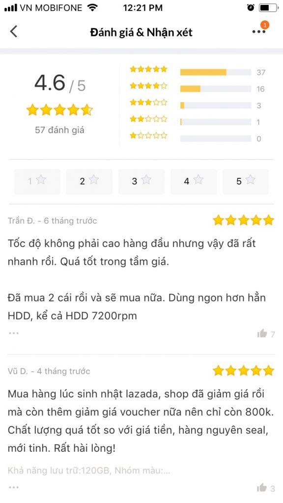 Hướng dẫn mua sắm trên Lazada App xem đánh giá sản phẩm