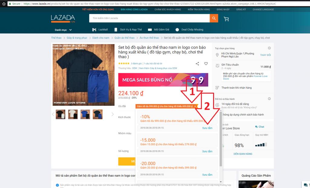 Hướng dẫn sử dụng tính năng bộ sưu tập mã giảm giá trên Lazada chọn ưu đãi