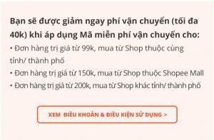 Nhập mã giảm giá vận chuyển Shopee điều kiện