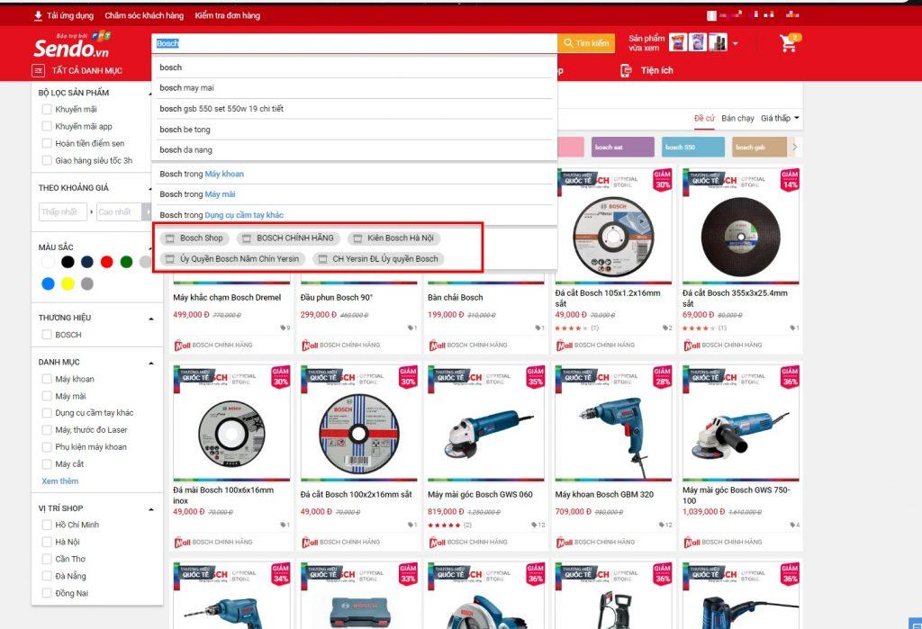 Hướng dẫn mua sắm trên Sendo tìm kiếm sản phẩm