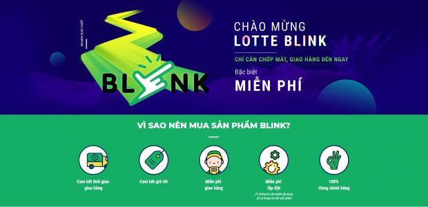 Tính năng mới Lotte Blink miễn phí giao hàng nhanh trên Lotte.vn