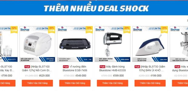 Hàng ngàn deal shock BlueStone khi mua hàng trên Shopee