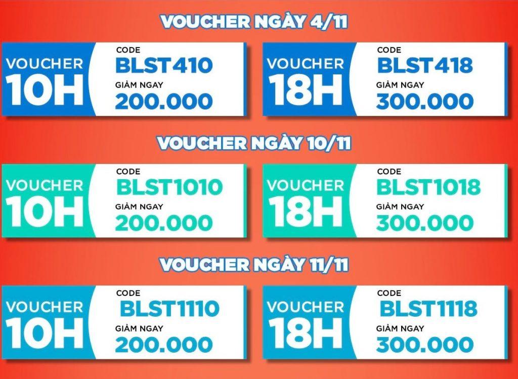 Mã giảm giá trực tiếp đơn hàng BlueStone trên Shopee mgg.vn