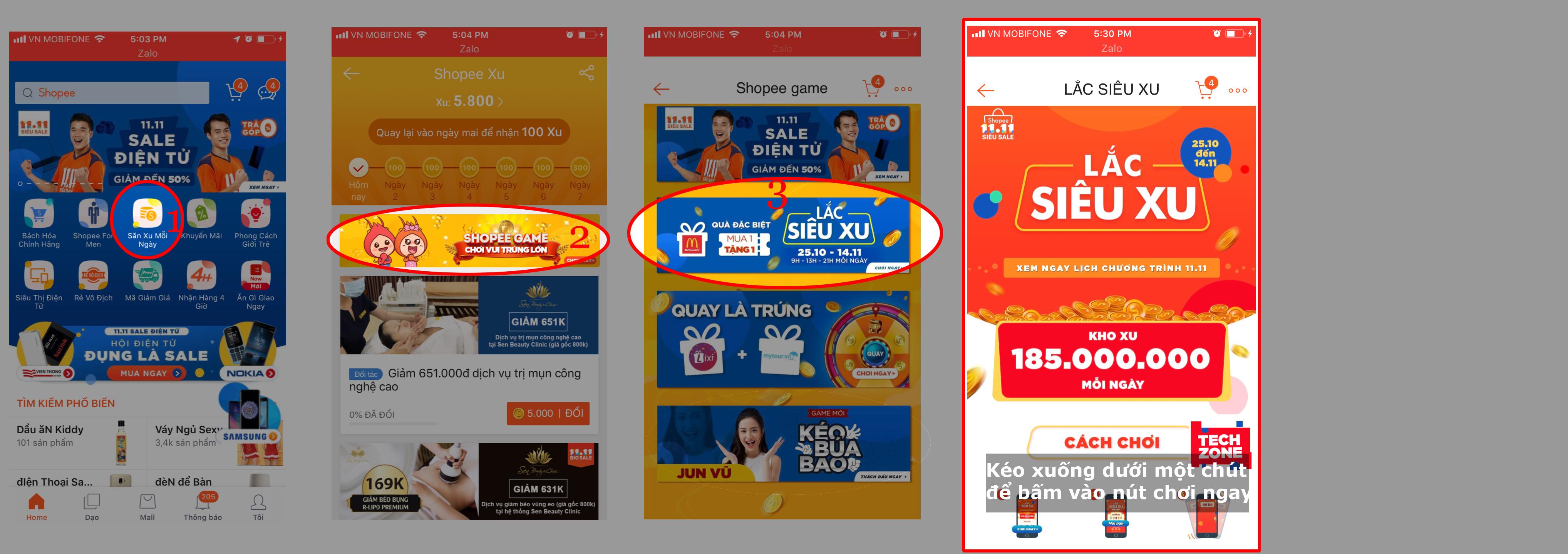 Shopee siêu sale hướng dẫn chơi lắc siêu xu mgg.vn