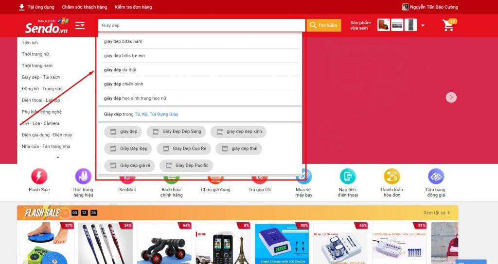 Mua sắm trên Sendo các bước mua hàng trên trang chủ