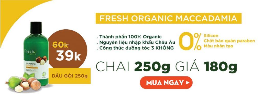 Mỹ phẩm Fresh Organic Maccadamia