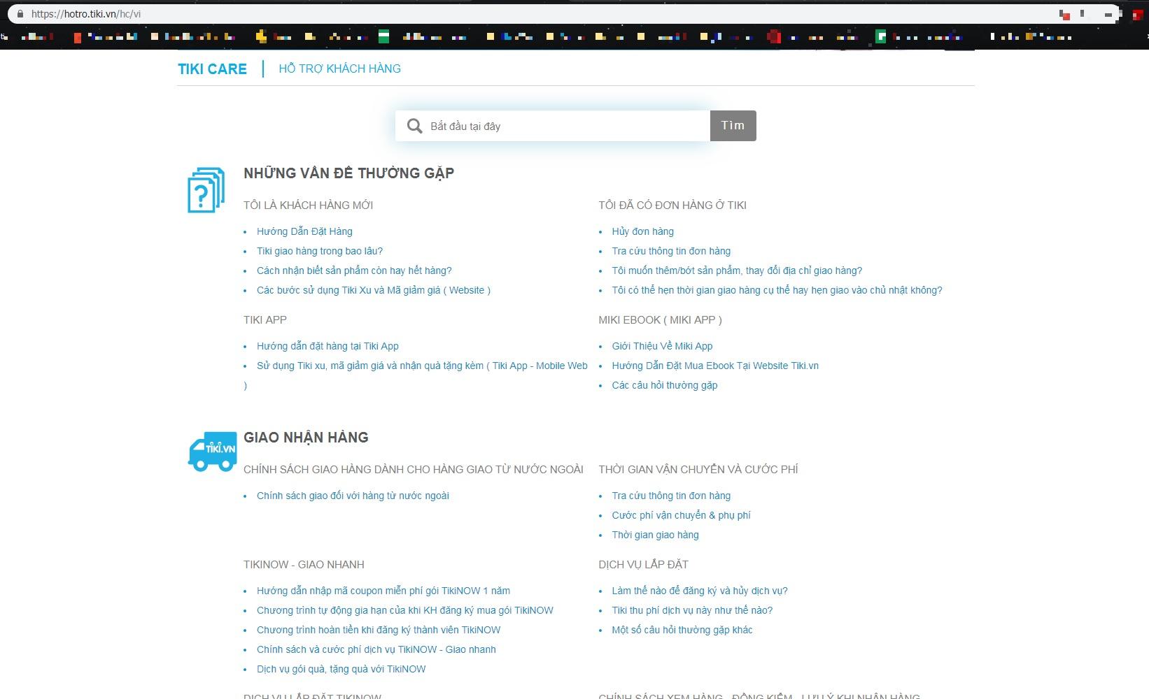 Hướng dẫn liên lạc tổng đài Tiki, trung tâm website hỗ trợ Tiki