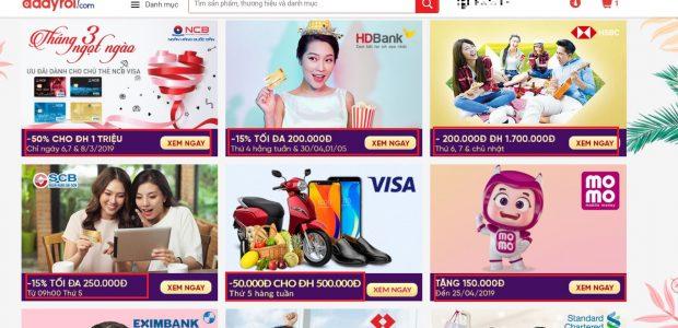 Hướng dẫn nhận ưu đãi giảm giá từ ngân hàng khi thanh toán thẻ trên Adayroi