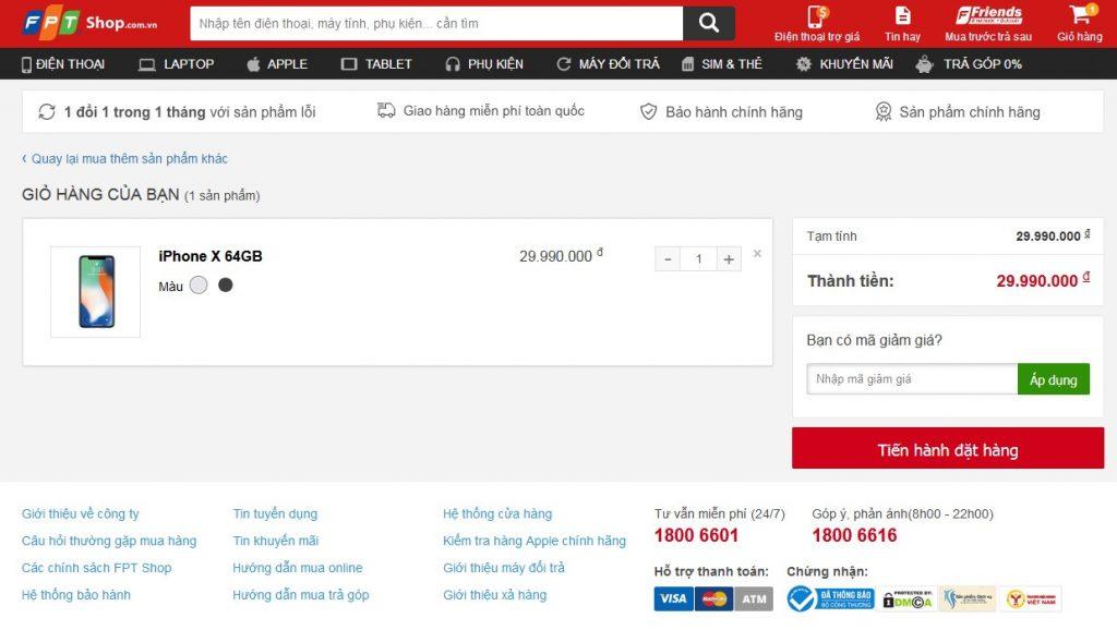 Hướng dẫn mua hàng tại FPTShop.com.vn - Tổng đài FPTShop