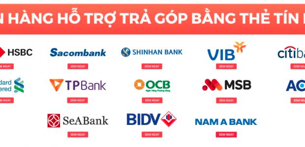 Các ngân hàng liên kết Tiki hỗ trợ trả góp 0%