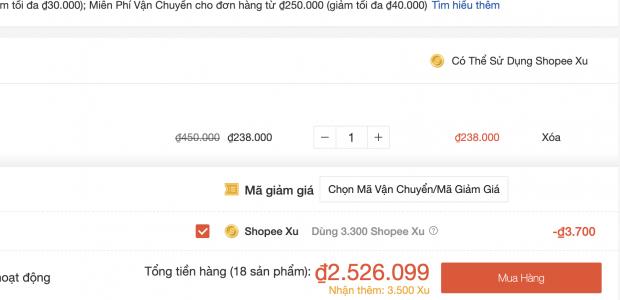 Hướng dẫn sử dụng Shopee Xu để mua hàng