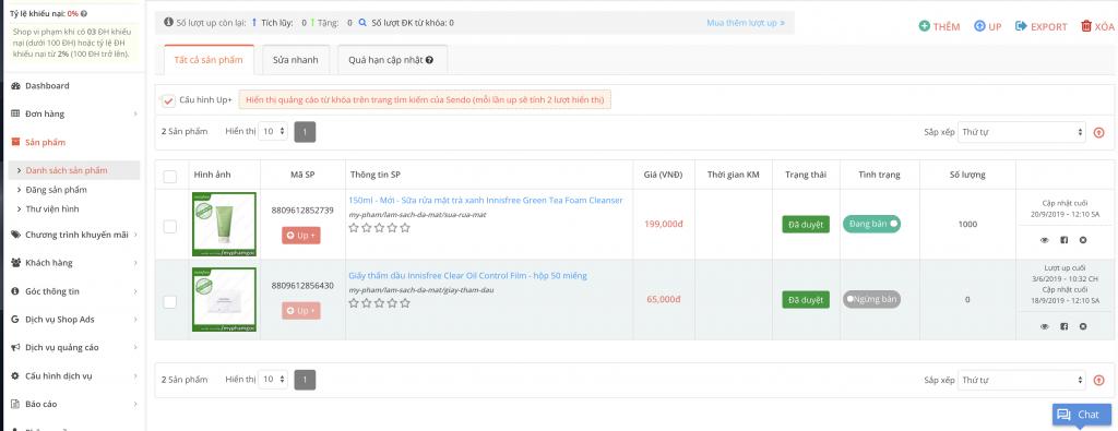 Hướng dẫn đăng bán Sendo, chỉnh sửa sản phẩm thông thường