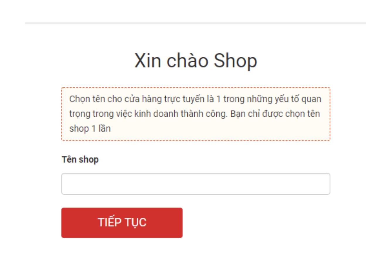Hướng dẫn đặt tên Shop bán hàng Sendo