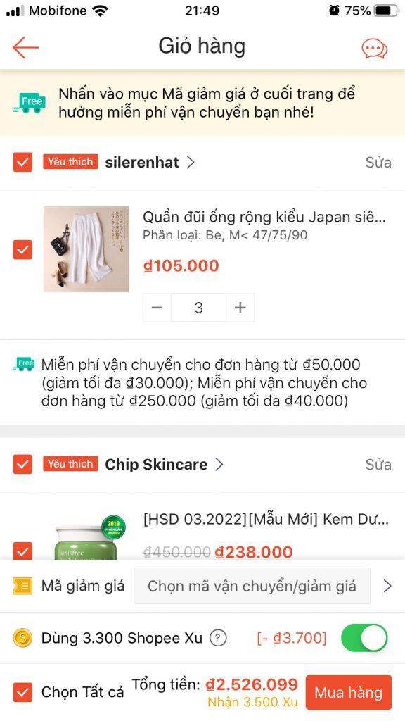 Hướng dẫn dùng Xu để mua hàng