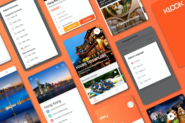 Klook hỗ trợ đa ngôn ngữ và đơn vị tiền tệ