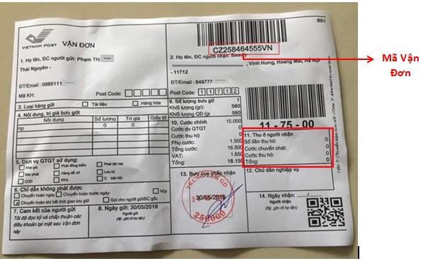 Kiểm tra thông tin vận chuyển của đơn hàng đổi trả Shopee