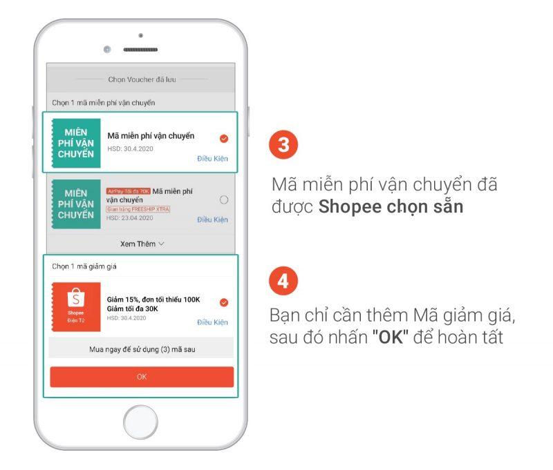 Hướng dẫn áp dụng 3 mã giảm giá Shopee cùng lúc