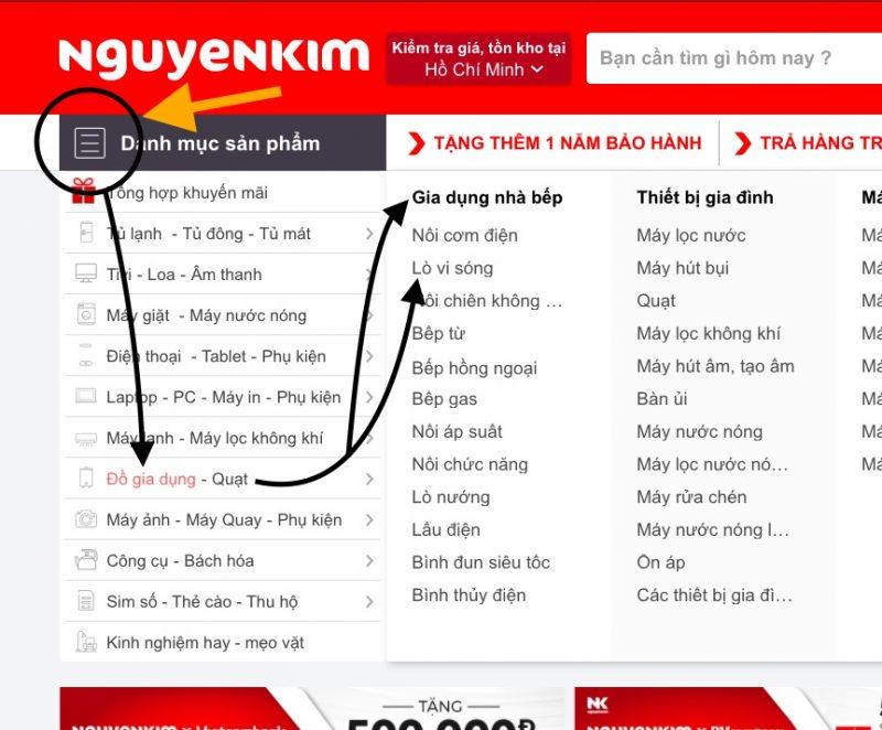 Hướng dẫn tìm mua Lò vi sóng trên Nguyễn Kim với giá tốt nhất