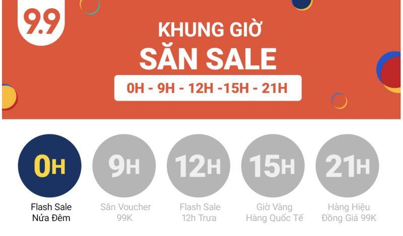 Khung giờ săn Sale Shopee 9.9. Đón chờ siêu Voucher 999K