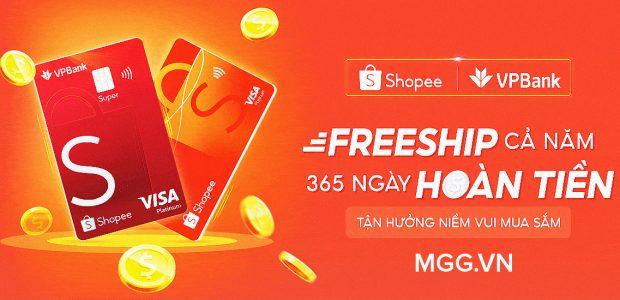 Hướng dẫn mở thẻ Shopee VPBank để được Hoàn tiền + Freeship cả năm