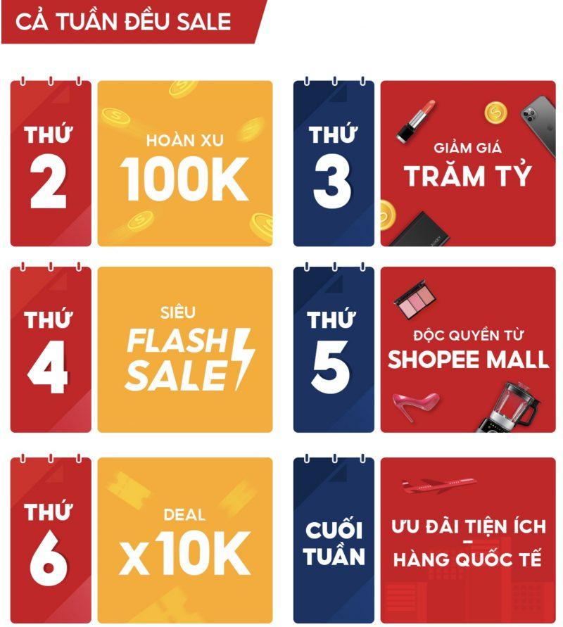 Shopee 10/10 siêu sale thương hiệu, cả tuần đều SALE