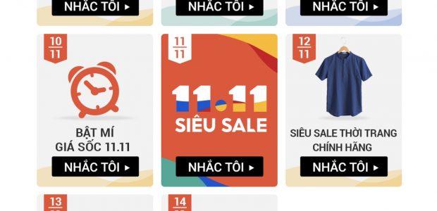Shopee Siêu Sale 11 tháng 11 năm 2020 Siêu mua sắm, siêu voucher