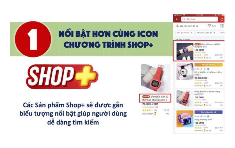 Hướng dẫn bán hàng Sendo, Shop+ sẽ được nổi bật hơn với icon Shop+
