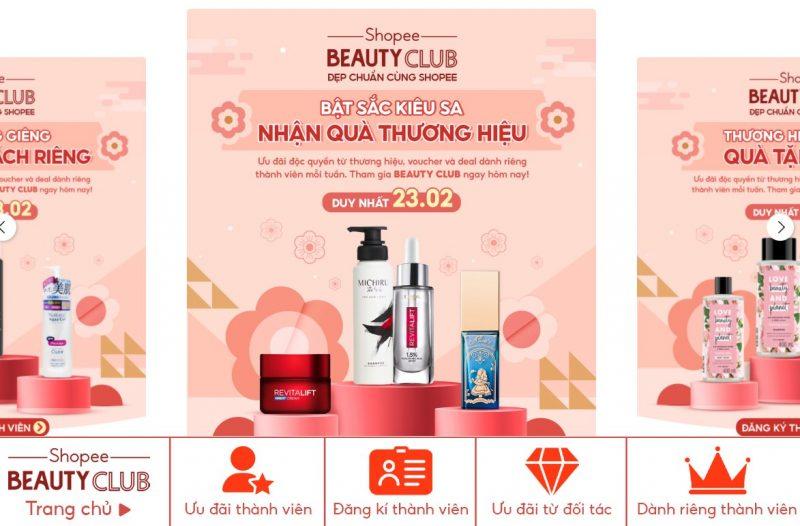 Beauty Club Shopee Sale - Bật sắc kiêu sa