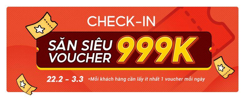 Săn siêu Voucher 999K cho đơn 1 triệu Shopee