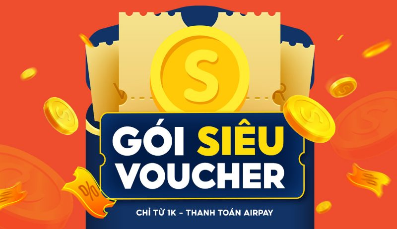 Gói siêu voucher Shopee 1K và gói voucher Shopee 20K cực hời