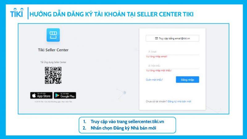 Hướng dẫn đăng ký bán hàng Tiki