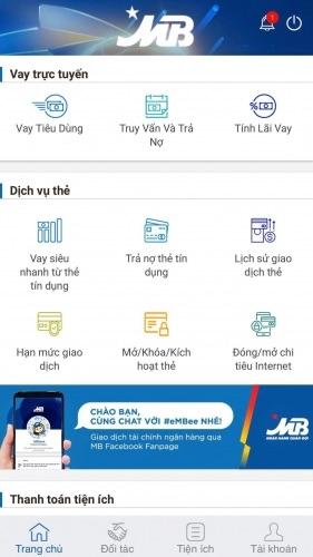Hướng dẫn vay online trên MBBank