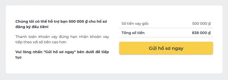 Hướng dẫn vay tiền online Tamo, vay tiêu dùng đến 15 triệu không cần thế chấp