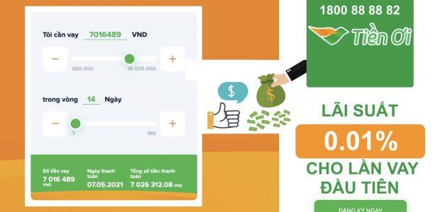 Hướng dẫn vay online lần đầu tiên lãi suất 0.01% trên Tiền Ơi (tienoi.com.vn)