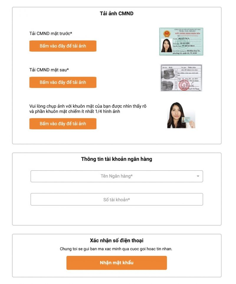 Hướng dẫn vay online Moneycat
